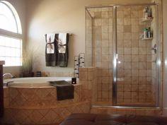 design bai folosind ca si material predominant travertinul Framed Shower Door, Bathroom Shower Doors, Glass Shower Doors, Master Bathroom, Bathroom Ideas, Clean Shower Floor, Walk In Shower, Phoenix Homes, Travertine Tile