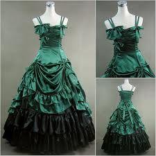 Green Victorian Dresses Anime