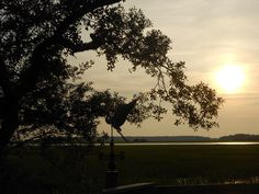 Sunset on the marsh, Fripp Island, SC.