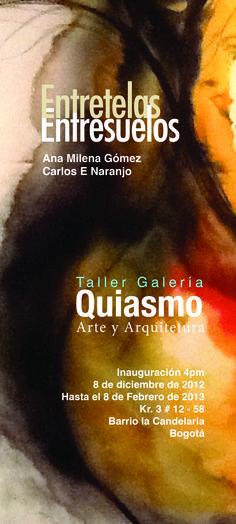 inauguración exposición Entretelas, Entresuelos.  Ana Milena Gómez, Carlos Eduardo Naranjo