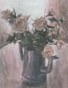 Roses watercolor pastel by Abakua on Etsy