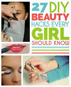 27 DIY Beauty Hacks Every Girl Should Know Pretty neat tricks and tips! Diy Beauty Hacks, Beauty Hacks For Teens, Beauty Ideas, Hacks Diy, All Things Beauty, Beauty Make Up, Hair Beauty, Beauty Care, Beauty Skin