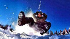 Ein Board, eine Schneepipeline und eine Zipline … mehr Spass im Schnee geht fast nicht!