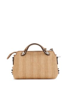 By the Way Mini Floral Straw Satchel Bag, Natural/Multi