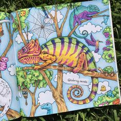 """""""Half way done! Animorphia is one of my favorites books! All colored with Crayola and Prismacolor blender. What you guys think?? """""""