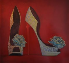 I Know When To Say Yes - 30 x 32 inches - Oil on Plexi-glass - 2012 - SOLD