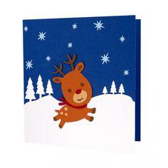 Handmade Christmas card made by applying multiple layers of cardboard. Handmade Christmas Gifts, Christmas Cards To Make, Christmas Greeting Cards, Christmas Greetings, Creative Art, Ren, Card Making, Kids Rugs, Model