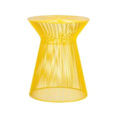 Cool yellow side table for indoors or out from Freedom.