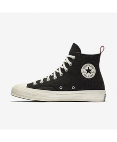92f66df8265945 Converse Chuck 70 Felt High Top Black 157481C-001 Mens Converse Trainers
