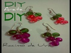 DIY Arete racimo de Uva - YouTube