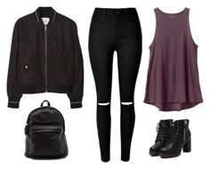 """""""Untitled #2387"""" by twerkinonmaz ❤ liked on Polyvore featuring RVCA and MANGO"""