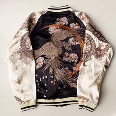 Japanese EDO Nihonga A la SOGA SHOHAKU Style Embroidery Dragon Ryu Tattoo Zen Sukajan Jacket - Japan Lover Me Store