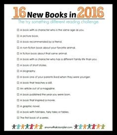 Reading Challenge for Kids (love that it's printable!)