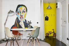 salle scandinave vintage- idées sur les meubles et la décoration