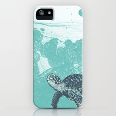 Sea turtle iPhone case.