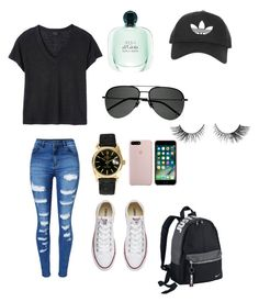"""""""Untitled #118"""" by anneliese10 on Polyvore featuring WithChic, Deby Debo, Topshop, Converse, NIKE, Rolex and Yves Saint Laurent"""