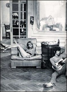 Keith Richards and Anita Pallenberg at Nellcote