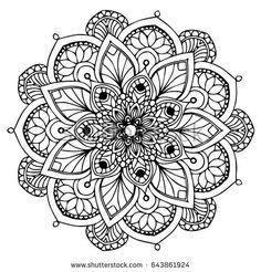 Mandalas for coloring book. Mandala Doodle, Mandala Art Lesson, Mandala Drawing, Mandala Tattoo, Alphabet Coloring Pages, Coloring Book Pages, Graph Paper Art, Room Wall Painting, Sacred Geometry Tattoo