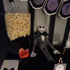 Nightmare before Christmas party!  See more party planning ideas at CatchMyParty.com!
