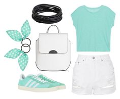 """""""[ hyperactive ]"""" by sew123093 ❤ liked on Polyvore featuring Majestic Filatures, Topshop, T-shirt & Jeans, adidas Originals and Accessorize"""