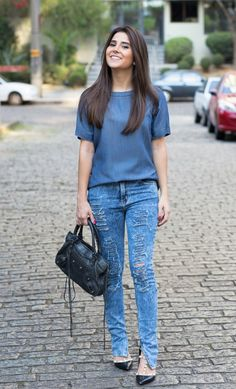 look - all jeans - Mixed - Balenciaga - denim - gabriela joá - blogger
