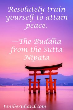 """Resolutely train yourself to attain peace."" —The Buddha"
