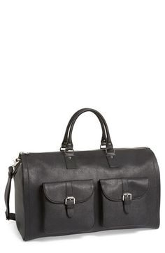 hook + ALBERT Saffiano Leather Garment/Duffel Bag available at #Nordstrom