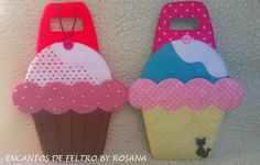 porta carregador de celular de feltro cupcake www.facebook.com/encantosdefeltrobyrosana