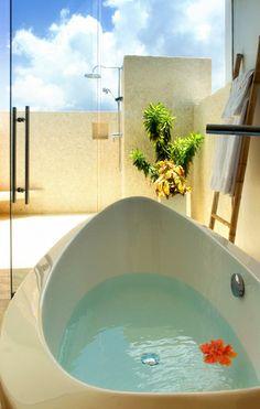 #Bathroom envy at Tequila Sunrise, an Anguilla Villa rental.