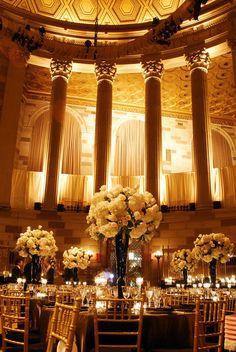 Gotham Hall NY this works for me : ) wedding hall decorations Wedding Reception, Wedding Venues, Wedding Halls, Wedding Tips, Wedding Favors, New York Wedding, Dream Wedding, Gotham, Wedding Hall Decorations