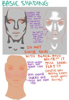 skin tones - basic shading - drawing + painting - Om Nashi Me Digital Painting Tutorials, Digital Art Tutorial, Painting Tips, Art Tutorials, Drawing Tutorials, Digital Paintings, Matte Painting, Drawing Techniques, Drawing Tips