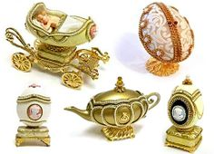 Peter Carl Faberge and his workshop made incredibly intricate Easter eggs for the Russian Imperial Court between 1885 and 1917.