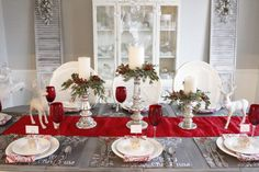 """Each month a group of blogger friends and I get together to bring you """"Style That Coffee Table"""" and share different ways to share our coffee tables for inspiration. This month, we decided to do something different and share our Christmas Tables. I know we are all getting together with our friends and family this …"""
