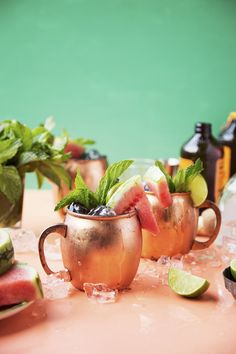 Watermelon Mexican Mules - The Candid Appetite