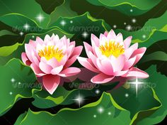 Buy Lotus flowers in a pond by silvertiger on GraphicRiver. Close-up of two lotus flowers and leaves floating in a pond – high quality detailed realistic vector illustration. Vector Design, Flyer Design, Apple Illustration, Graphic Prints, Graphic Design, Print Fonts, Lotus Flowers, Vector Flowers, Corporate Flyer