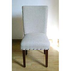 nail head trim parsons chairs.
