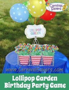 DIY Lollipop Garden Carnival Party Game.
