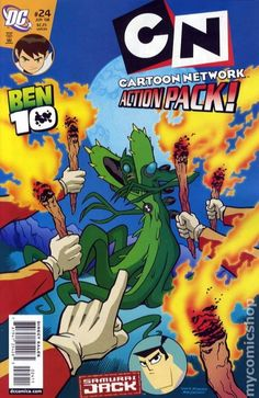 Cartoon Network Action Pack (2006) 24 Ben 10 Samurai Jack comic book cover