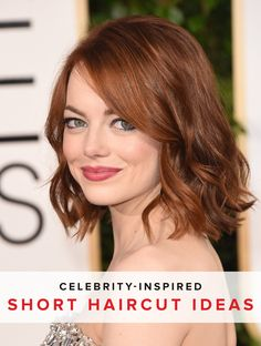 Opt for a slightly shorter style in the back for a bit of edginess to spice up a shorter, wavy hairstyle.