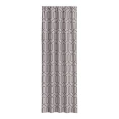 Dotted Trellis Dove 50x108 Curtain Panel | Crate & Barrel