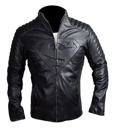 Superman Smallville Black Quilted Leather Jacket at Amazon Men s Clothing  store  Epic Cosplay 437d2b4b102b