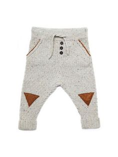 SPROET & SPROUT KNIT BABY PANTS 'TRIANGLE Billie & Axel, Montreal, Canada