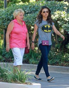 Mila Kunis - Mila Kunis Visits Her Grandmother