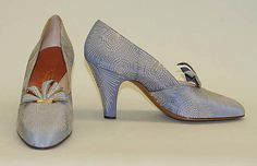 Pumps Netch and Frater  (French) Date: 1930–37 Culture: French Medium: silk, leather Accession Number: 1973.185.5a, b