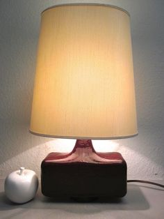 Huge 70s table lamp - by Krösselbach.
