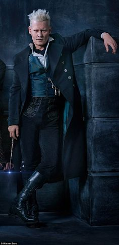 Back in black: Johnny Depp is set to star in the upcoming sequel to Fantastic Beasts as Gellert Grindelwald