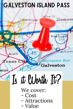 Here's what you need to know about the cost of the Galveston Island Pass. We also tell you which families will save more by NOT buying it. Tips on traveling to this Galveston Island, a Texas family travel hot spot including what the attraction pass includes and approximate value you'll save by purchasing in the bundle. #TravelingMom #TMOM #Galveston #Texas #FamilyTravel #TravelwithKids #GalvestonIsland #BudgetTravel #TravelTips Galveston Bay, Galveston Island, Texas Roadtrip, Texas Travel, Travel With Kids, Family Travel, Budget Travel, Travel Tips, Visit Texas