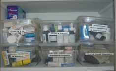 Organize your medicine chest by affliction #home #organize #organization #bathroom #medicine #homeopathy