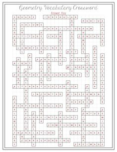 Geometric Shapes Crossword Puzzle | Shape, Circles and Words
