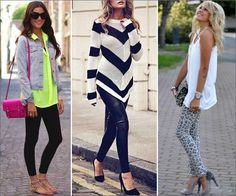 Styling those trendy leggings!